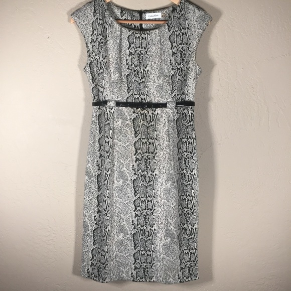 Calvin Klein Dresses & Skirts - Calvin Klein dress sheath snake print career sz. 4